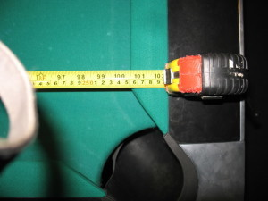 To determine pool table room sizes, measure your pool table play field.